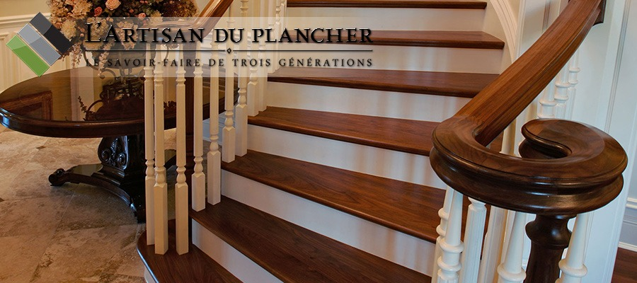 sablage et finition de rampes d 39 escaliers par l 39 artisan du plancher montr al 514 232 3465. Black Bedroom Furniture Sets. Home Design Ideas